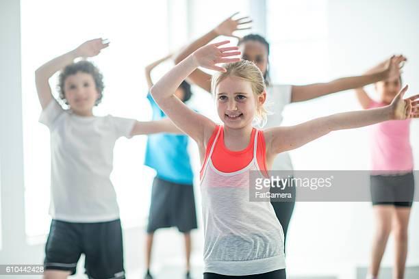 Children Taking a Fitness Class
