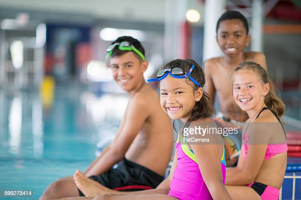 Children Taking a Swim Class