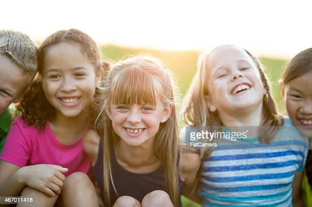 Children Together Outdoors