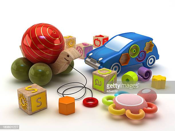 children toys - toy rattle stock pictures, royalty-free photos & images