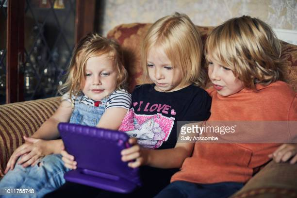 Children using a tablet