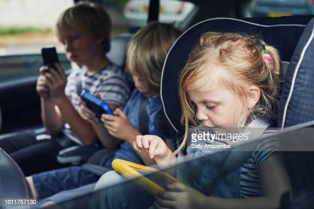 Children using electronic devices