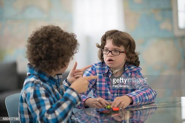 Children Using Sign Language