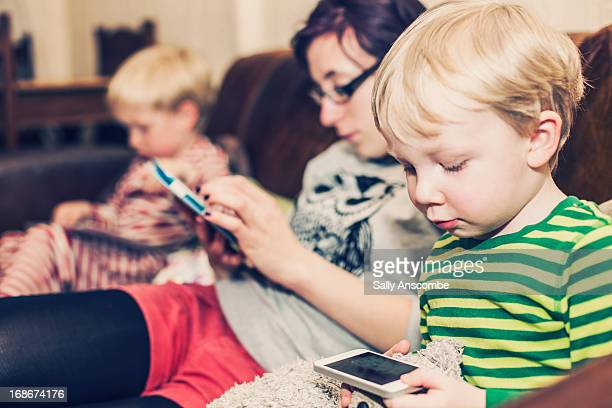 Children using tablets and smart phones