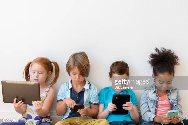 Children using technology