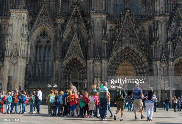 Children visiting the Cologne Dome