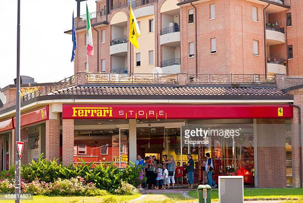 children vist ferrari formula one store at maranello - maranello stock pictures, royalty-free photos & images