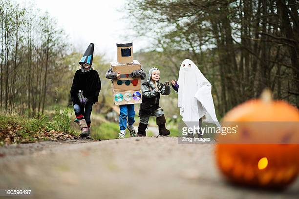 Children wearing fancy dress