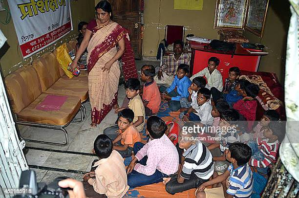 Children who were rescued from the orphanage run by an NGO Sapna Jan Vikas Sewa Samiti at Suryadev Nagar on July 15 2014 in Indore India As many as...