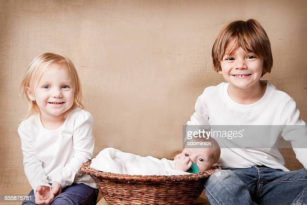 Children With New Baby Brother