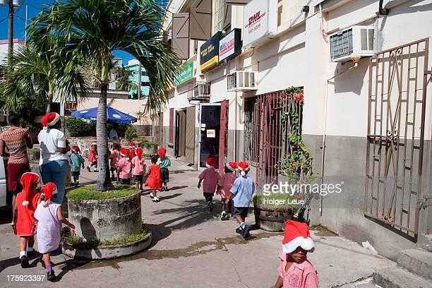 Children with santa hats