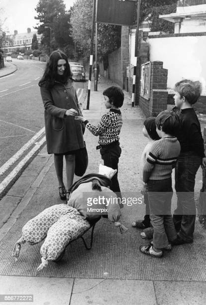 Children with their guy on a Cardiff Street 25th October 1974
