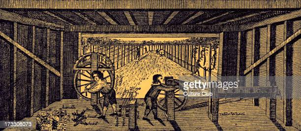 Children working in a rope factory from 18th century engraving