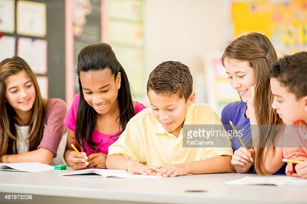Children Working on an Assignment Together