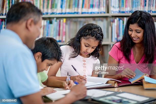 Children Working on Homework