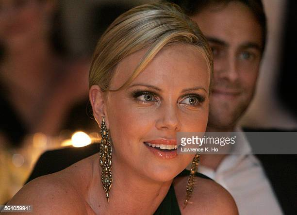 Children's Action Network gala hosted by Gucci designer Frida Giannini at Michael and Eva Chow's house Actress Charlize Theron and boyfriend actor...