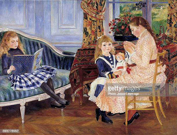 Children's afternoon at Wargemont Painting Pierre Auguste Renoir oil on canvas 127 x 173 cm 1884 French School Berlin Alte Nationalgalerie