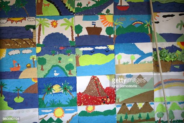 Childrens artwork hangs on the wall at the Upbring New Hope Childrens Center operated by Lutheran Social Services of the South and contracted with...