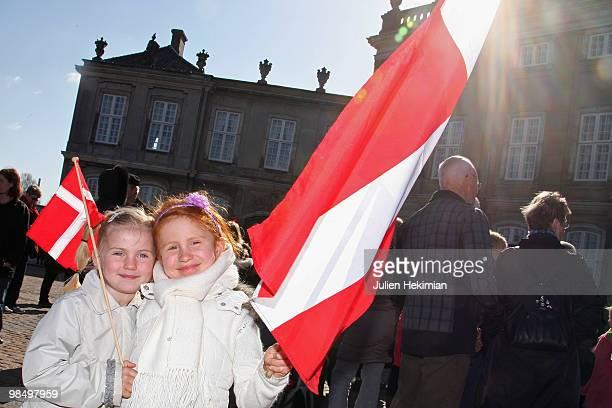 Childrens attend Queen Margrethe's 70th Birthday Celebrations at Amaienborg Castle on April 16, 2010 in Copenhagen, Denmark.