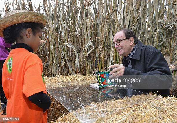 Children's author R L Stine attends Get Goosebumps Scholastic 20th Anniversary Celebration at Intrepid SeaAirSpace Museum on October 25 2012 in New...