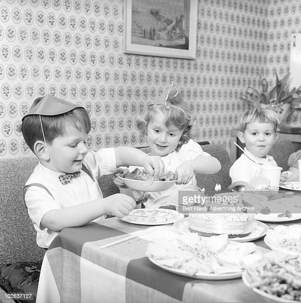 A children's birthday party at a house in Bromley Kent 24th October 1959