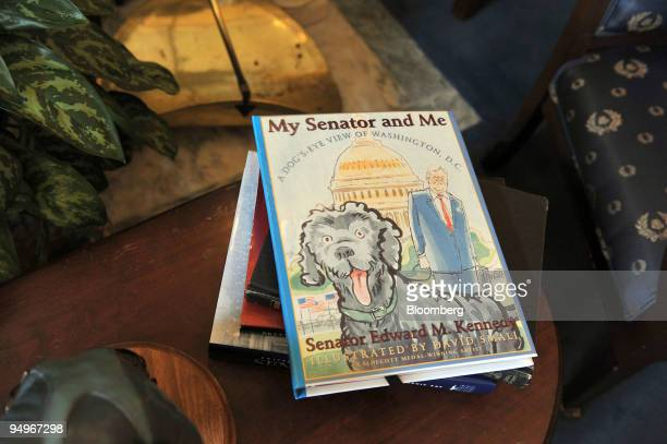 A children's book My Senator and Me written by former Senator Edward M Ted Kennedy sits on a table inside his office in the Russell Senate office...