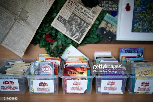 Children's books lay dormant at Oldfield Brow Primary School during the coronavirus lockdown on April 08 2020 in Altrincham England The government...