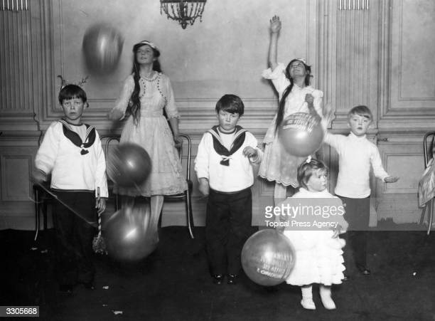 A childrens' Christmas party held at the Savoy Hotel