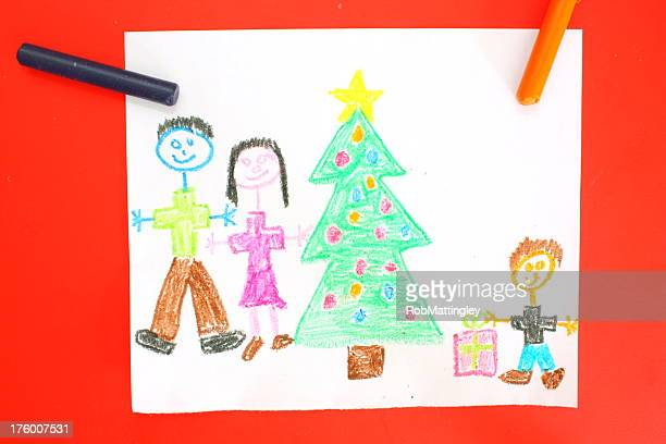 Children's drawing of Christmas