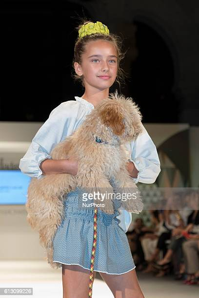 Children's fashion parade inside the petite fashion week 2016 held at the Palace of Cibles of Madrid on October 6 2016