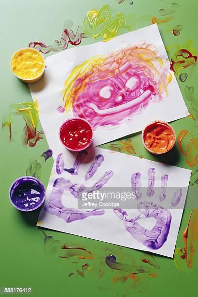 Children's Finger Paintings