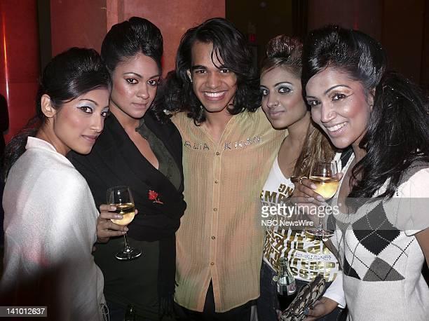 NBC NEWS Children's Hope India Charity Event Pictured Models Annie Salam Farida Khan and singer Sanjaya Malakar with models Sugouri Batra and Bhavna...