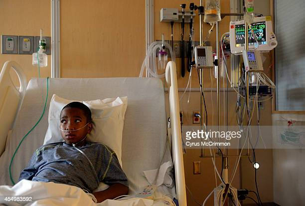 Children's Hospital Colorado is seeing high numbers of respiratory illnesses 9yearold patient Jayden Broadway of Denver is being treated at the...