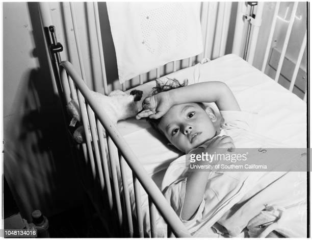 Children's Hospital community chest 9 October 1951 Bruce Potter 2 yearsPatty Haynes 7 yearsArleane Malmen 13 yearsGeorge Humphrey 3 yearsErnest Lopez...