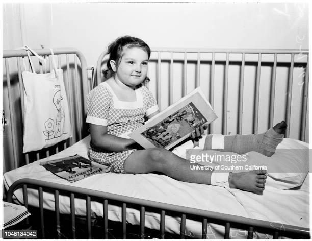 Children's Hospital community chest, 9 October 1951. Bruce Potter -- 2 years;Patty Haynes -- 7 years;Arleane Malmen -- 13 years;George Humphrey -- 3...