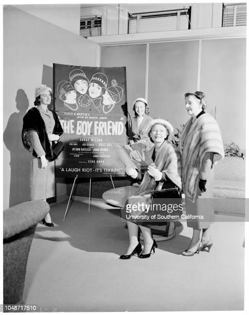 Children's Hospital fashion show 1 January1957 Mrs Jack T SprattMrs Austin MahrMrs James S WhiteMrs Giles W MeadMrs William H AhmansonMrs Robert...