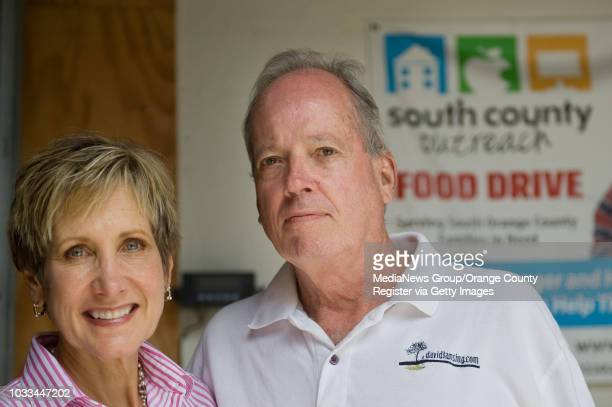 Children's Hospital of OC Vice President Jan Lansing and her husband David take part in a South County Outreach project to bring awareness to hunger...