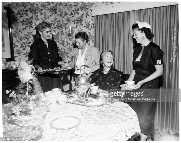 Children's hospital salvage shop tea 2 June 1952 Mrs Temple W AshbrookMrs Joseph BauerMrs Paul H DavisMrs Glenn E CarterMrs George H BeckMrs Howard...