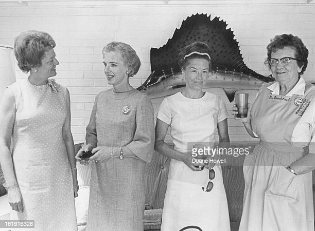 JUN 29 1967 AUG 29 1967 Children's HospitalMayDF Sept 14 Fashion Show Committee Talk Plans Discussing $35aticket show at Denver Hilton are from left...