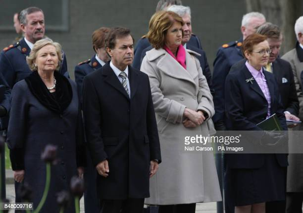 Children's Minister Frances Fitzgerald Justice Minister Alan Shatter Social Protection Minister Joan Burton and Attorney General Maire Whelan at the...