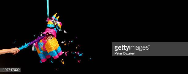 children's party pinata - animal representation stock pictures, royalty-free photos & images
