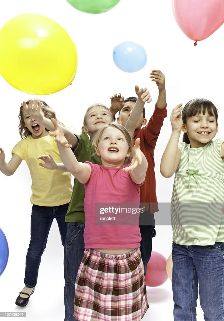 Children's Party with Balloons : Stock Photo