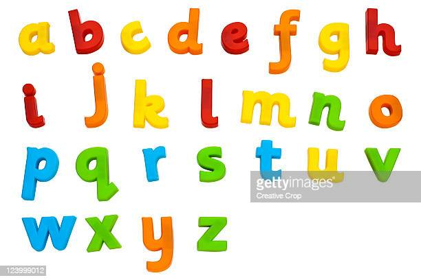Children's plastic magnetic alphabet letters
