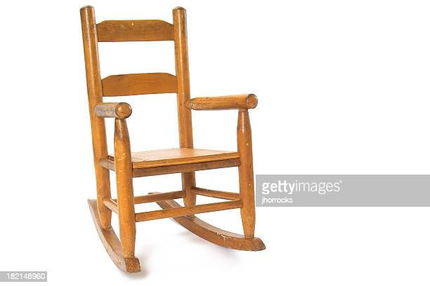 childrens' rocking chair - rocker stock photos and pictures