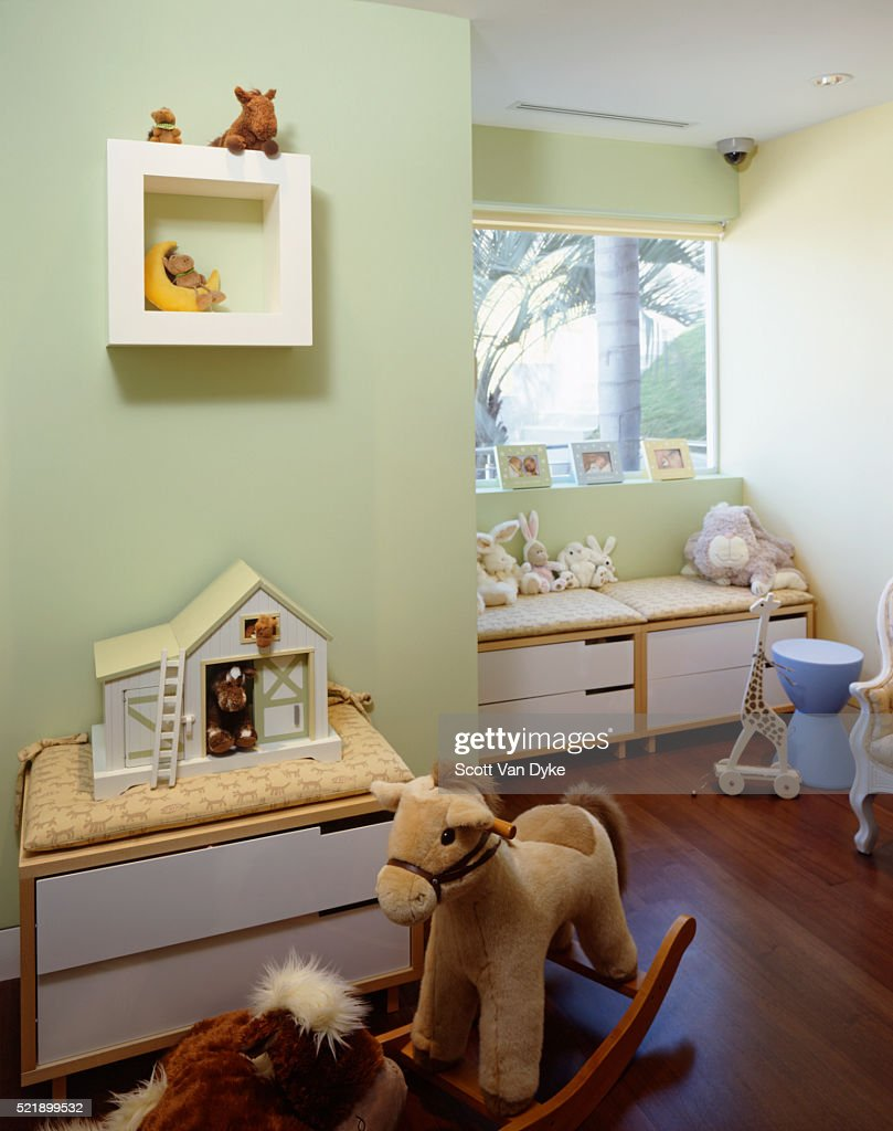 Childrens Room With Light Green Walls High Res Stock Photo Getty Images