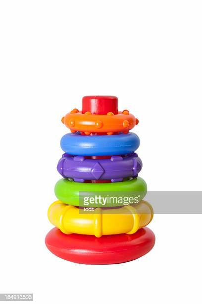 Children's Toy: Colorful plastic stacking rings (XL)