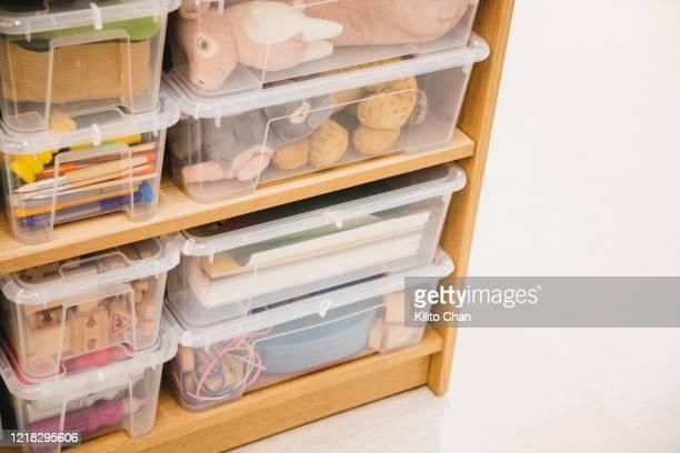 children's toy drawers - lagerhaltung stock-fotos und bilder