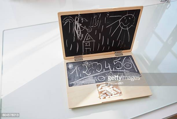 Childrens toy notebook with drawing