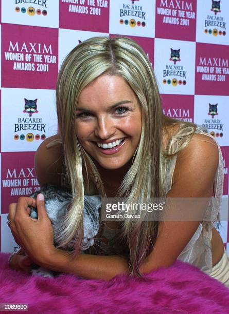 Childrens TV presenter Katy Hill at the Maxim magazine Woman Of The Year Awards in the Park Lane Hilton in London February 18 2001