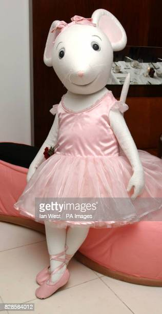 Children's TV star Angelina Ballerina during the Nutcracker premiere preperformance party at the Coliseum in London